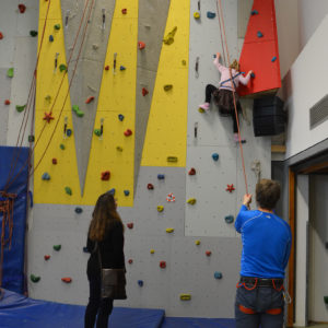 Tag der offenen Schule - Kletterwand